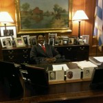 Scottie Pippen in Mayor Daley's Office - Chicago