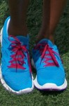 Eva Marcille's Electric Blue Nike's