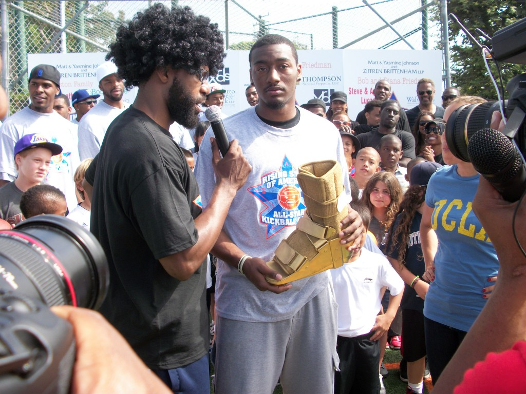 John Wall Accepts Golden Boot Award