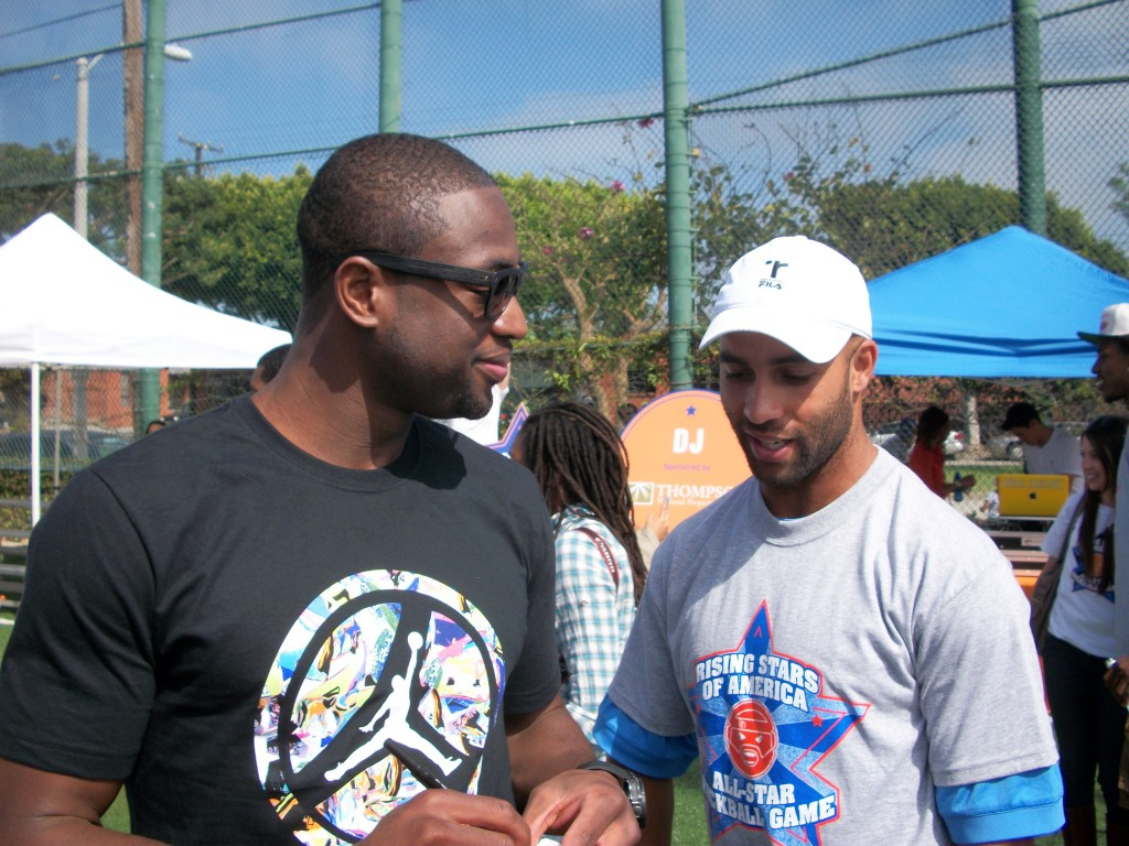 Dwyane Wade and James Blake