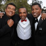 "Goerge Lopez, Sugar Ray Leonard, and Kenneth ""Babyface"" Edmonds"
