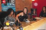 Kim and Juli prepare to interview designer Abi Ferrin