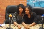 Kim and Juli in the LA Talk Live studio
