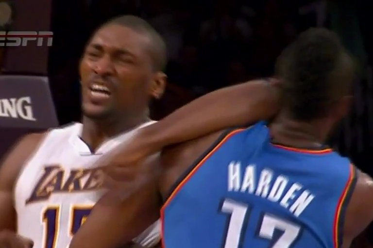 ELBOW GATE: Seven game suspension for Metta World Peace