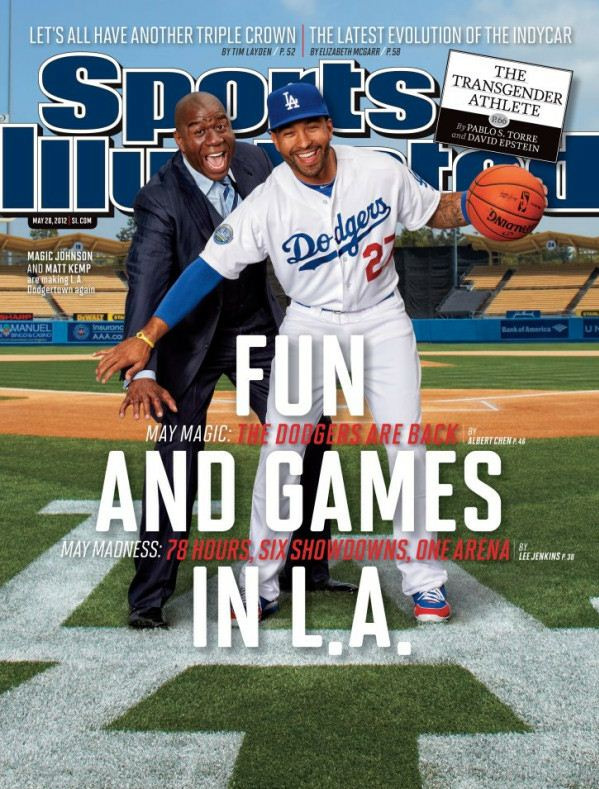 Magic Johnson and Matt Kemp